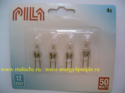 Лампа PILA 12V 50W GY6.35 (фото, вид 4)