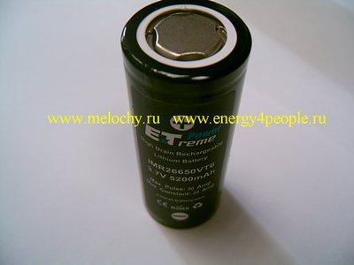 Energy Technology IMR26650VT6 (фото, вид 1)