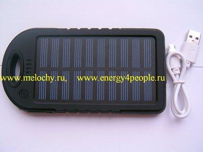 Аккумулятор внешний с солнечной батареей (фото, вид 2)