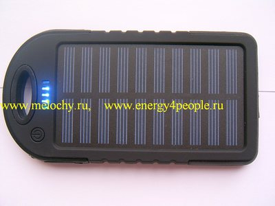 Аккумулятор внешний с солнечной батареей (фото, вид 3)