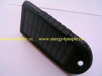 Аккумулятор внешний с солнечной батареей (фото, вид 4)