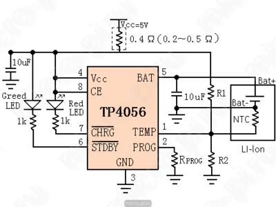 Модуль заряда TP4056-Micro Protect (фото, вид 1)