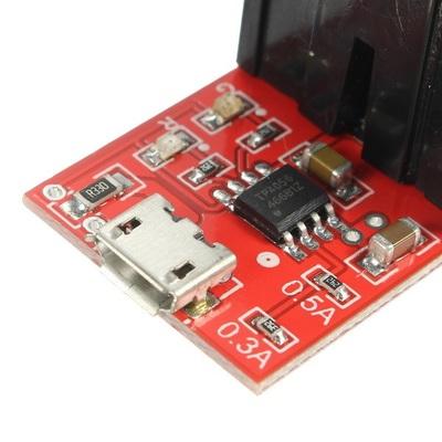 Модуль заряда TEC4056 с держателем для 18650 (фото, вид 2)