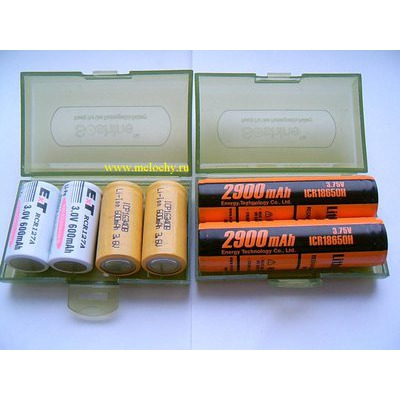 Бокс для хранения аккумуляторов 18650