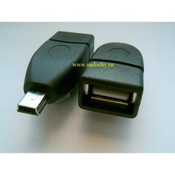 Переходник гнездо USB А - mini штекер USB A