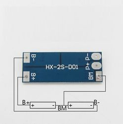 Контроллер HX-2S-D01 заряда-разряда для Li-ion батарей, 2 ячейки, до 15А