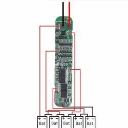 Контроллер CF-5S15A заряда-разряда для Li-ion батарей, 5 ячеек, до 15А. с балансировкой